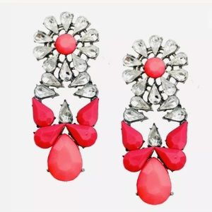 Pink Jewel Earrings